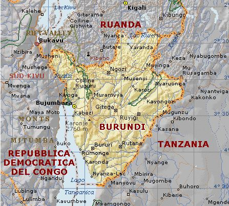 Cartina Giografica Africa.Cartina Geografica Mappa Burundi