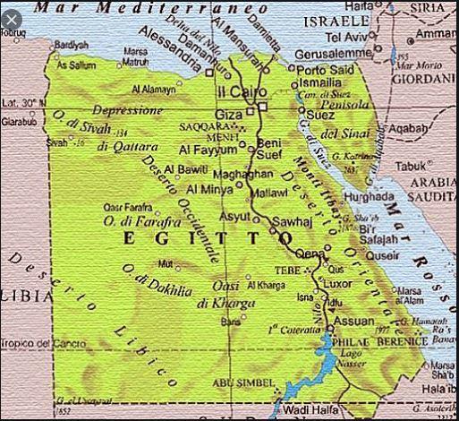 Cartina Egitto In Italiano.Cartina Geografica Mappa Egitto