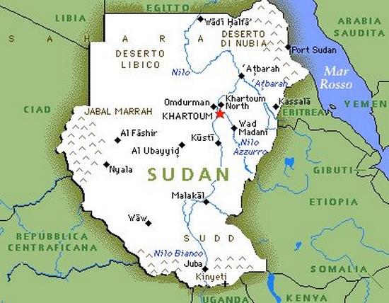Cartina Giografica Africa.Cartina Geografica Mappa Del Sudan In Africa