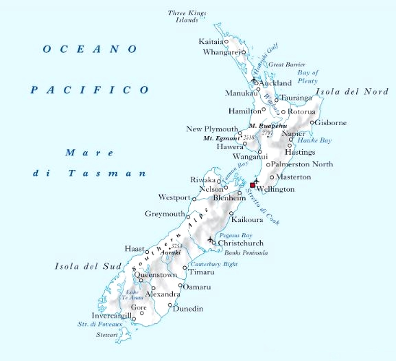 Cartina Nuova Zelanda.Cartina Geografica Mappa Nuova Zelanda