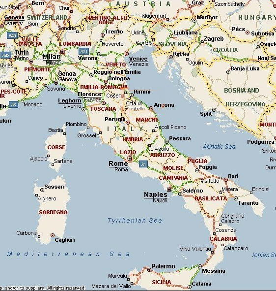 La Cartina Italiana.Cartina Geografica Politica Dell Italia Mappa Italiana