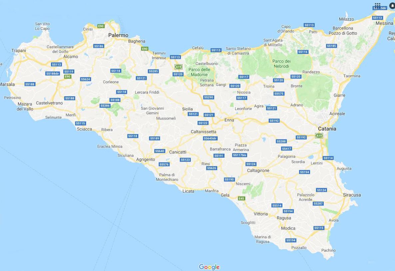 Immagini Cartina Della Sicilia.Cartina Geografica Politica Della Regione Abruzzo Mappa O Carta