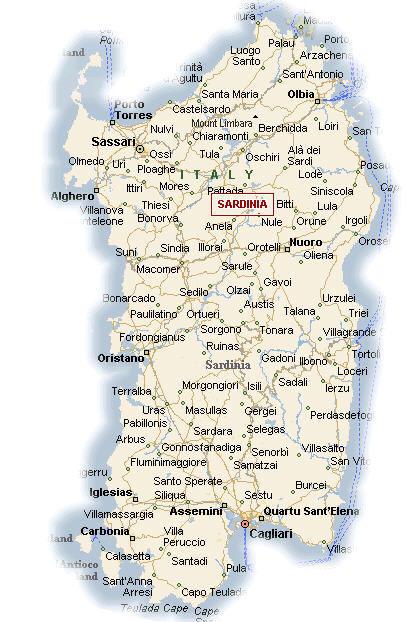 Cartina Sardegna Formato A4.Cartina Geografica Della Regione Sardegna Mappa O Carta