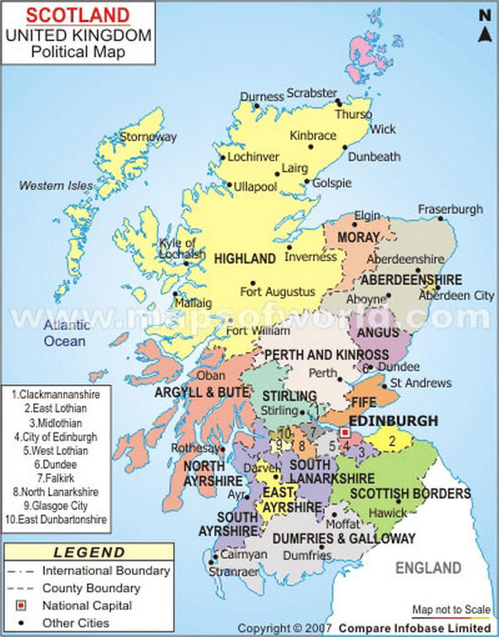 Cartina Scozia Dettagliata.Cartina Geografica Della Scozia Mappa O Carta Map Of Scotland