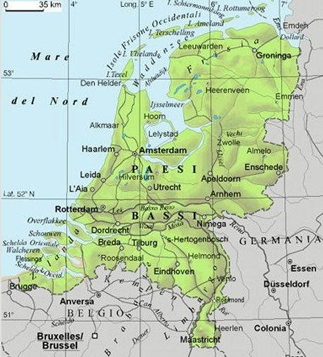 Cartina Olanda Politica.Cartina Geografica Dell Olanda Paesi Bassi Mappa O Carta