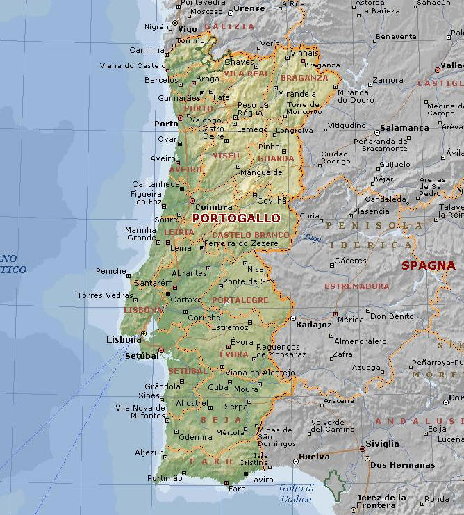 Cartina Stradale Portogallo.Cartina Geografica Del Portogallo Mappa O Carta Mapa De Portugal
