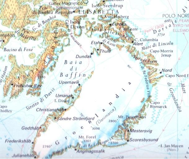 Cartina Geografica Della Groenlandia.Cartina Geografica Della Groenlandia Mappa O Carta